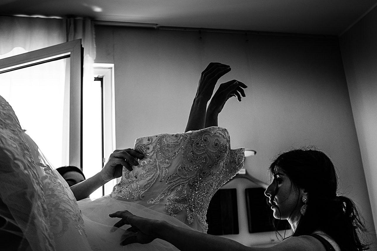Vestito sposa matrimonio antico podere di rezzano truccazzano 11