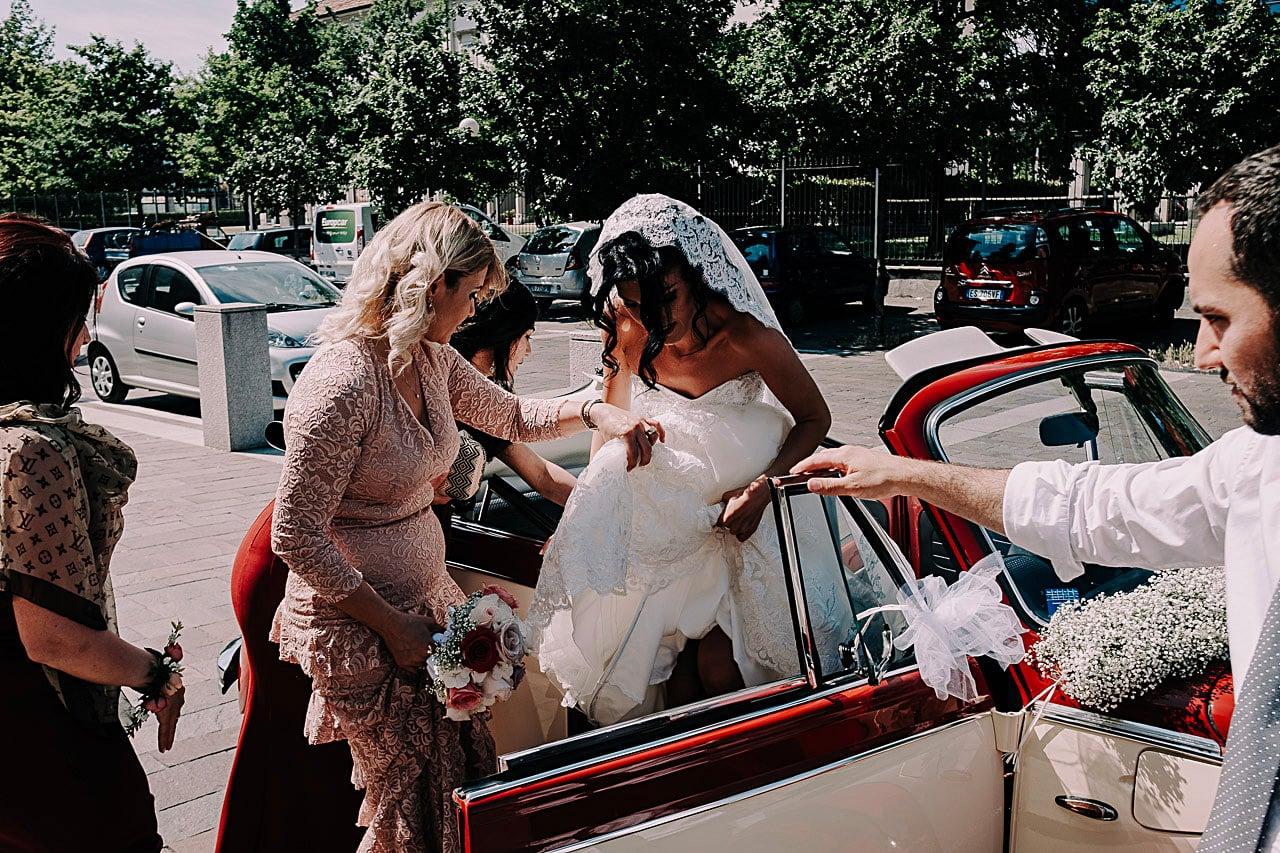 arrivo chiesa sposa matrimonio antico podere di rezzano truccazzano 35