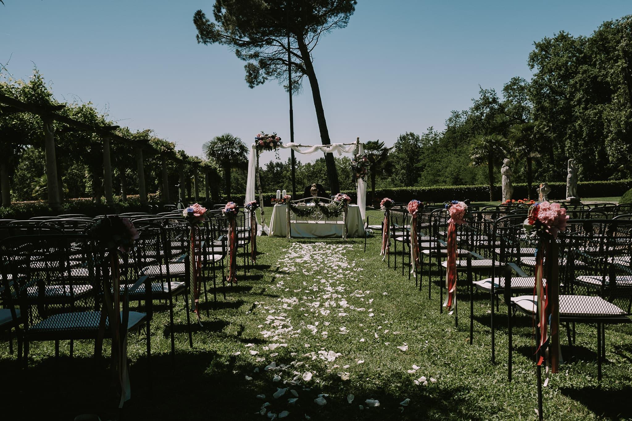 cerimonia nel parco villa martinelli