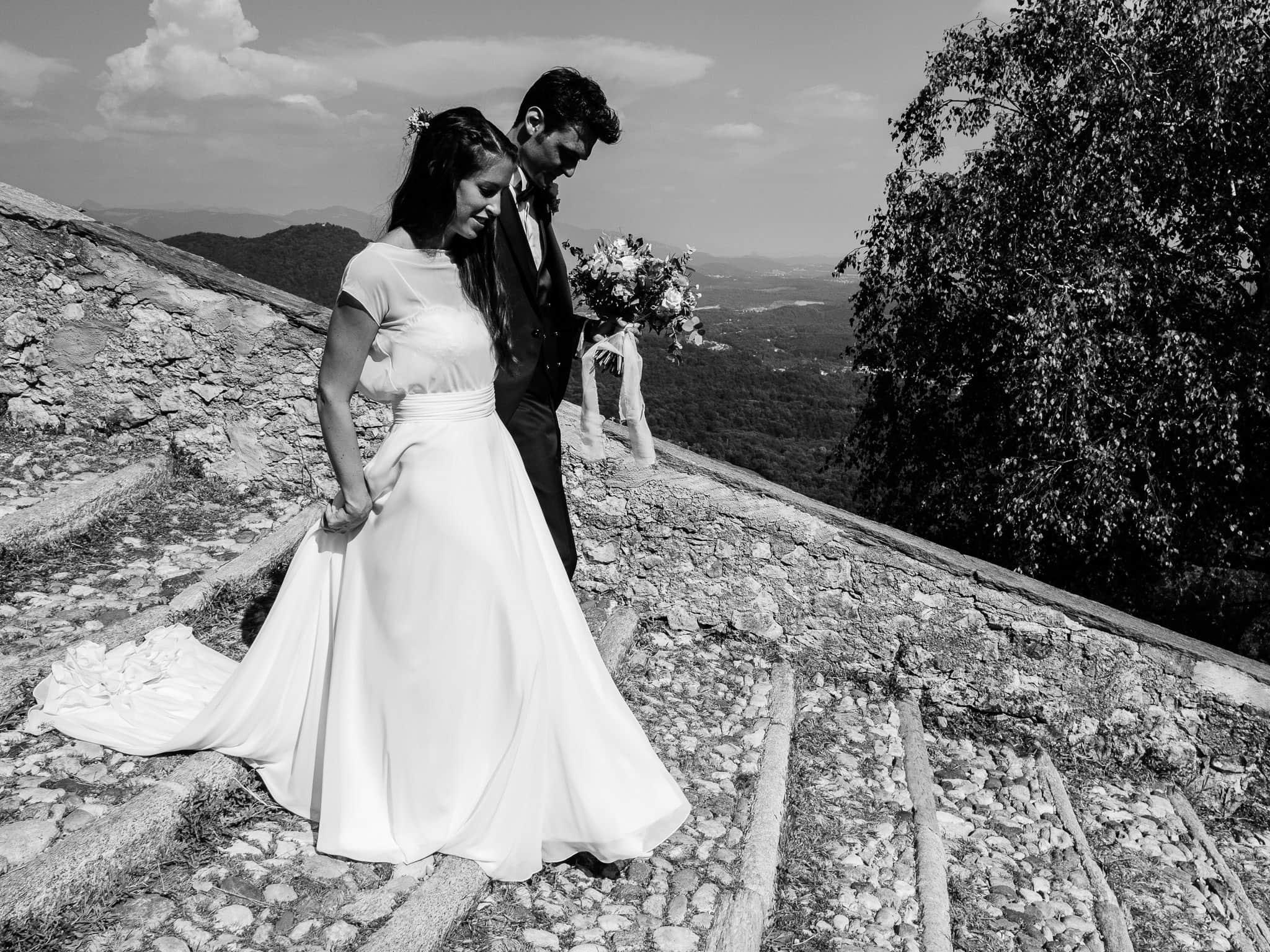 ritratti sposi reportage chiesa sacro monte varese