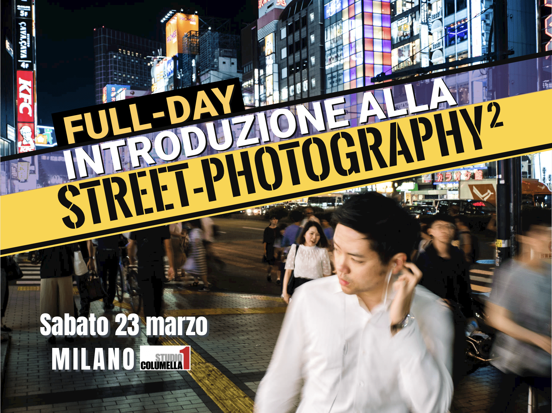 locandina workshop street photography milano
