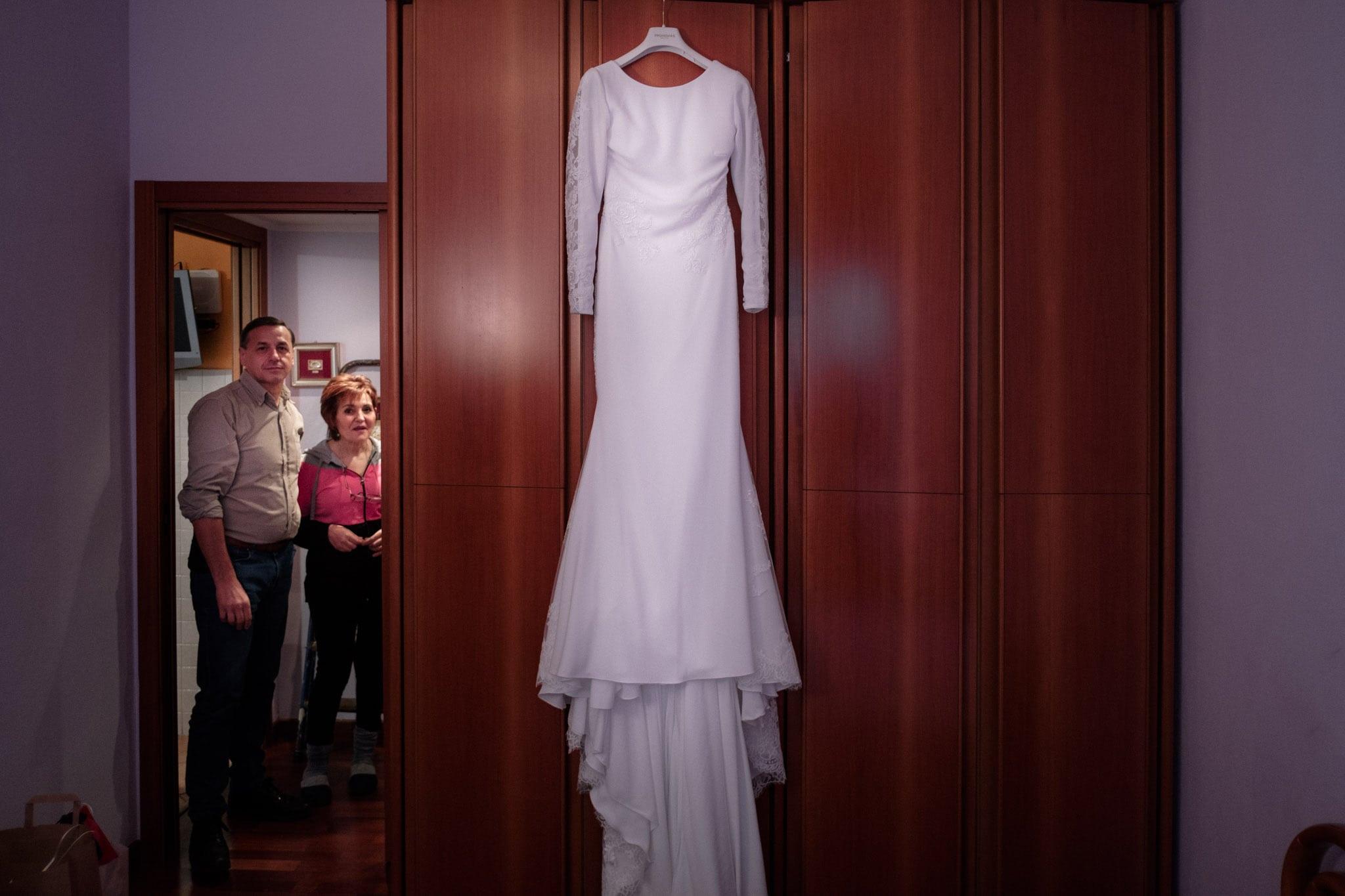 abito sposa Matrimonio invernale Villa Gromo