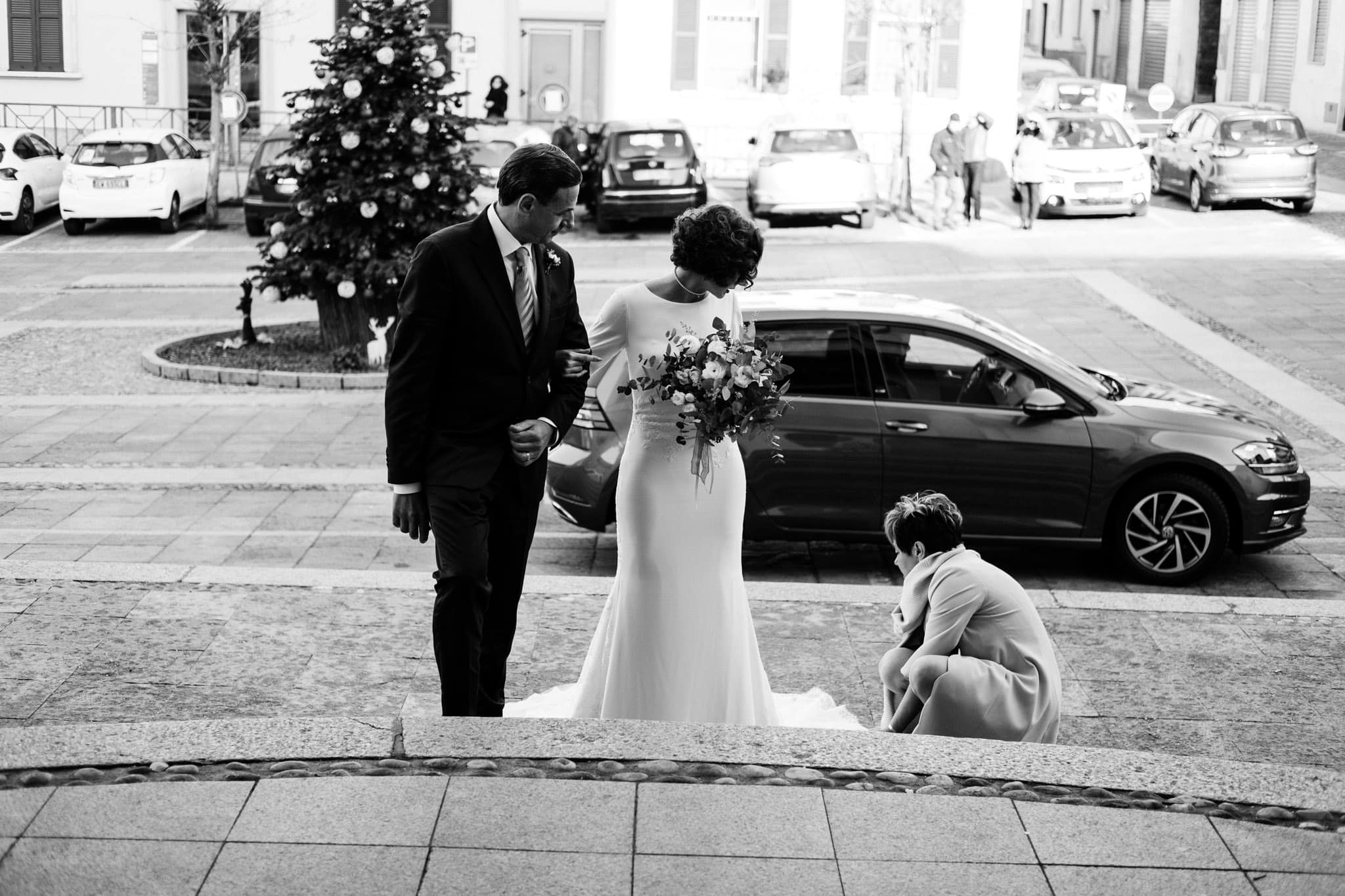 bellezza sposa in chiesa