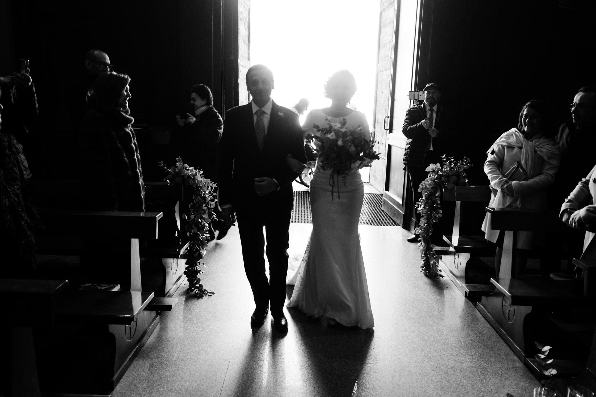 ingresso sposa con padre