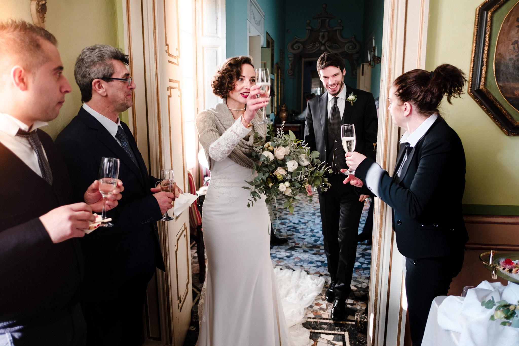 arrivo sposi matrimonio villa gromo