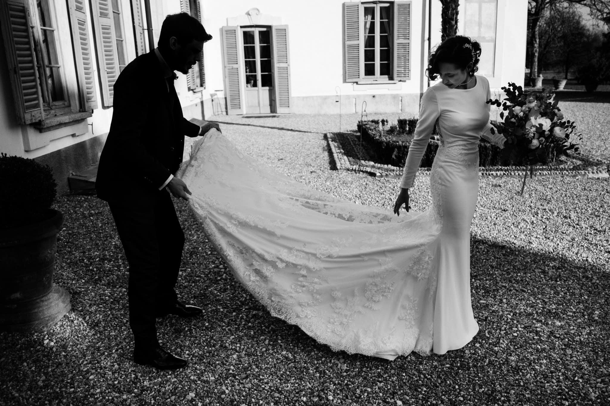 sposi matrimonio villa gromo
