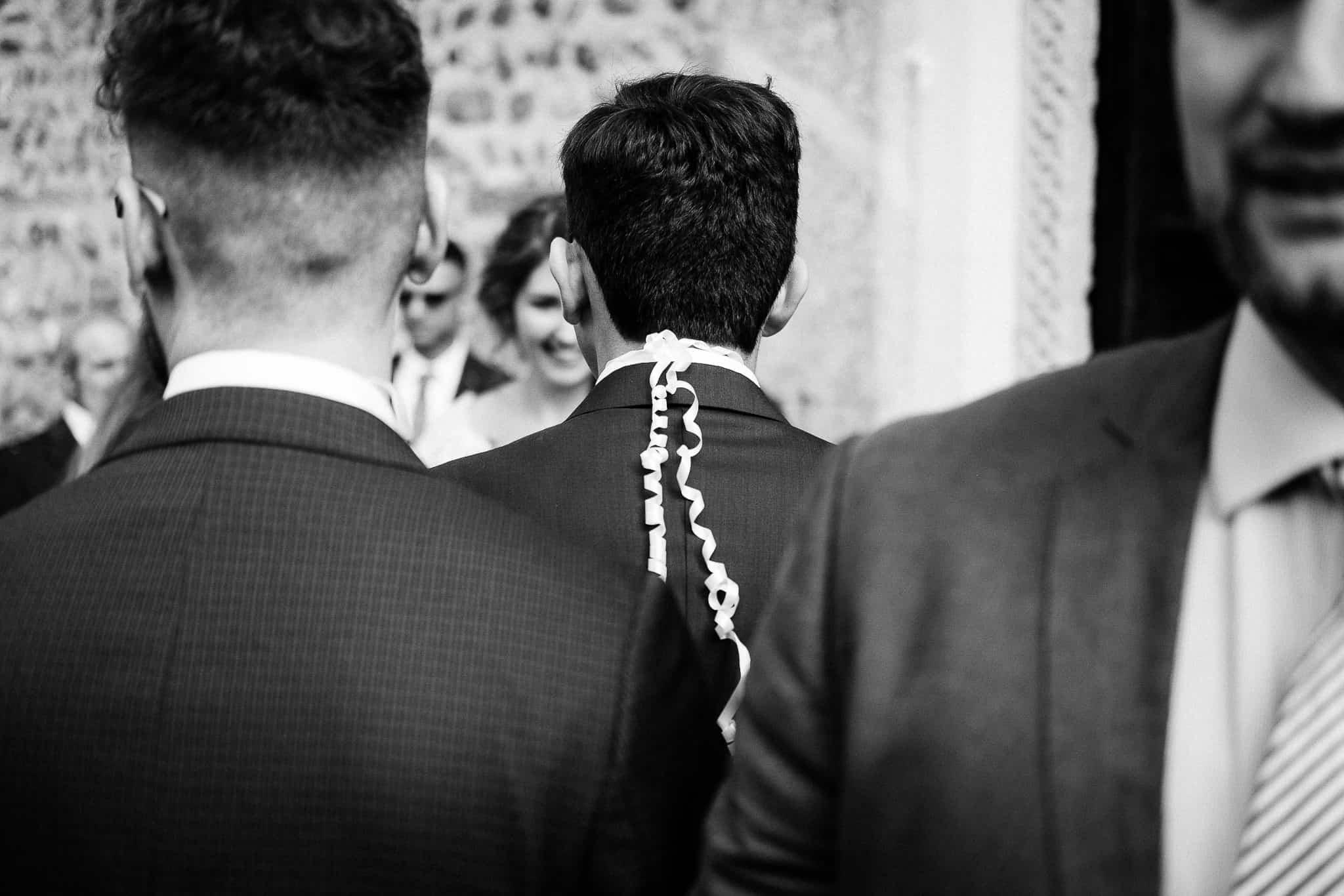 Matrimonio con fotografie in bianco e nero