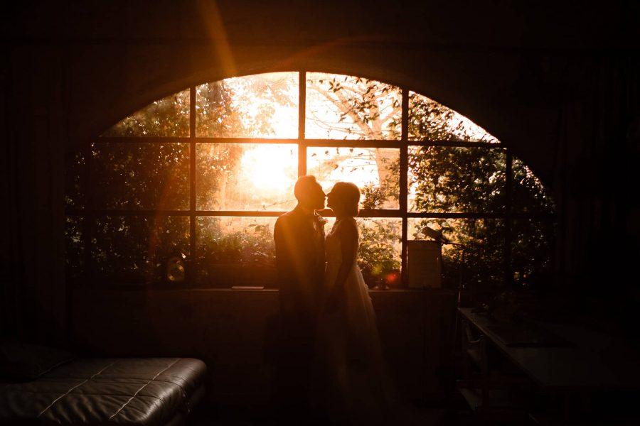 ritratto sposi al tramonto